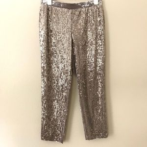 New Chicos Size 2 12 Sequin Pant Tapered Ankle